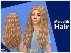 qicc's Meredith Hair Sims 4 Cc Kids Clothing, Sims 4 Mods Clothes, Sims Mods, Sims 4 Cc Packs, Sims 4 Mm Cc, Toddler Hair Sims 4, The Sims 4 Cabelos, Pelo Sims, Sims 4 Children