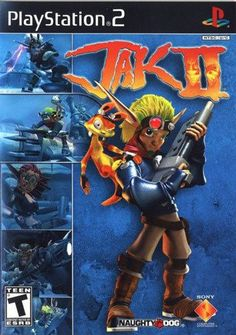 Jak II (Sony PlayStation for sale online Playstation 2, Xbox, Jak And Daxter 2, Jak & Daxter, Games Box, Games To Play, Playing Games, Cartoon Network, Juegos Ps2