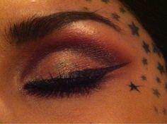 kat von d eye makeup, I love her eyebrows
