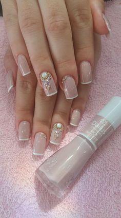 New Unique French Manicure Fun Ideas Bridal Nails, Wedding Nails, Wedding Fun, Gradiant Nails, Cute Nails, Pretty Nails, Hair And Nails, My Nails, Seasonal Nails