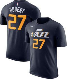 Nike Men s Utah Jazz Rudy Gobert  27 Dri-FIT Navy T-Shirt f4239cff9