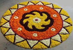 Beautiful Onam Pookalam Designs, Best Onam Pookalam Designs