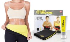 image for Hot Shapers Waist Trimmer Belt with Anti-Cellulite Cream