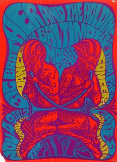 Psychedelic poster, ... 1967 ... Big Brother & the Holding Company ..  Moby Grape ...  The Ark .....  Sausalita.