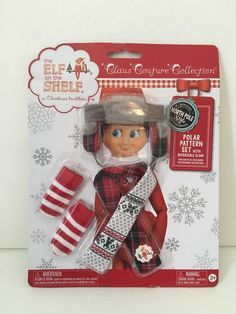 POLAR PATTERN SET Elf on the Shelf Claus Couture Collection Outfit Clothes NIP
