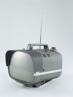 Sony TV8-301 portable television, c.1960. Hardly portable by today's standards, but you have to just love the Jetson Family aesthetics!