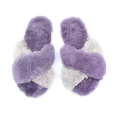 Baby Alpaca Criss Cross Slipper made of ethically sourced baby alpaca fur and handmade in Peru by artisans from Ariana Bohling. Baby Alpaca, upper and footbed lining with suede sole. Alpaca Slippers, Lilac Grey, Baby Alpaca, Criss Cross, Artisan, Lily, Handmade, Shoes, Fashion