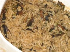 Mushroom and Rice Casserole from Food.com: Mushroom and Rice Casserole There is nothing to say about this but quick, easy and very good! I got this recipe from a church cookbook about 30 years ago, and it has been a family favorite ever since.