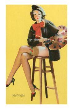 Palette-able, Pantless Artist Premium Poster