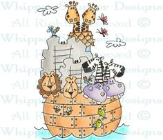 Two By Two - Zoo - Animals - Rubber Stamps - Shop