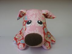 Handmade, gorgeous, sad-eyed patchwork puppy by the perfectly named BHIAA (Basset Hound Inspected and Approved) on Etsy. Lots of other items as well. All adorable.