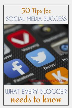 Awesome list of social media tips for bloggers and home business owners.