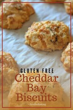 No one will ever know these gluten free cheddar bay biscuits are gluten free! They're perfectly seasoned, with a taste that keeps you coming back for more. #zestforbaking #glutenfreebiscuits #glutenfreebaking #glutenfreesnacks Gluten Free Quick Bread, Gluten Free Biscuits, Gluten Free Snacks, Gluten Free Dinner, Gluten Free Baking, Gluten Free Recipes, Bread Recipes, Cheddar Bay Biscuits, Dinner Bread