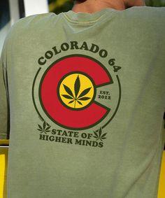 Colorado 64 - Hemp-Dyed Crew Neck T-Shirt Crazy Shirts, Cool T Shirts, Dye T Shirt, Neck T Shirt, Kids Shirts, T Shirts For Women, Hemp, Funny Tshirts, Colorado