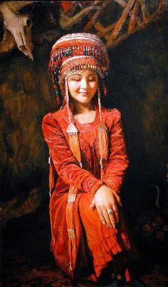 TURKMEN GIRL FROM TURKOMANIA