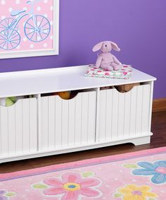 Loving this KidKraft White Nantucket Storage Bench .. can be used in so many rooms for so many different things