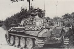 Panther Ausf A coded 96 of Hptm Pfannkuche's II Battalion 33rd Panzer Regiment 9th Panzer Division ; Normandy August 1944.