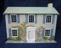 Vintage Wolverine DOLLHOUSE w/ Original Furniture - Today's Kids Tin Doll House