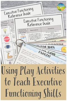 Practicing Executive Functioning Skills with Play Activities Get kids moving to learn executive functioning skills like self-control, attention, and organization. Read about some games you can start teaching to younger learners right away! Autism Education, Special Education, Gifted Education, Teacher Education, Therapy Activities, Learning Activities, Life Skills Activities, Social Activities, Educational Activities