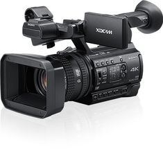 The Sony camcorder packs a lot of punch for its money. In fact, Sony touts this camera as the lowest priced professional camcorder. Sony Camera, Best Camera, Digital Camera, Ultra Hd 4k, 4k Uhd, Camcorder, Night Vision, Binoculars, Wi Fi