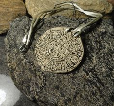 MAYAN CALENDAR - Laser Cut Pendant - Made from Real Porcelain - Gift for Her or…
