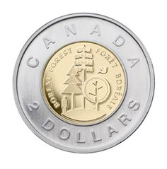 2011 two-dollar coin - Parks Canada boreal forest Canadian Coins, I Am Canadian, Canadian Culture, Canadian History, Parcs Canada, Gold And Silver Coins, O Canada, Commemorative Coins, Dollar Coin