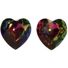 Preowned 1980's Aurora Borealis Crystal Heart Shaped Clip On Earrings ($95) ❤ liked on Polyvore featuring jewelry, earrings, black, crystal jewelry, 80s earrings, 1980s earrings, 1980s jewelry and earring jewelry 80s Earrings, Heart Earrings, Crystal Earrings, Crystal Jewelry, 80s Jewelry, Heart Jewelry, Jewellery, Black Heart, Aurora Borealis
