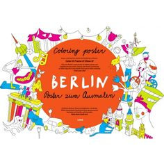 Coloring posters of Berlin, Vienna, Praque and Bratislava Bratislava, Vienna, Opera, Books, Coloring, Posters, Design, Art, Art Background