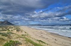 Beach view towards Onrus, Hermanus District, Cape Whale Coast, South Africa. Sa Tourism, Provinces Of South Africa, Beach House Decor, Countries Of The World, Holiday Destinations, Small Towns, Coast, Travel, Outdoor