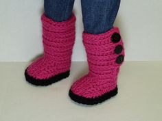 Ravelry: Mini Sweater Boots – PDF Crochet Pattern for American Girl Doll pattern by Mini Giggle Gear