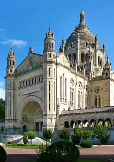 Basilica of Saint Therese, Lisieux - France Such a beautiful and inspiring place to visit