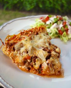 Spaghetti Pie | Plain Chicken   -  I am going to try this with spaghetti squash instead of spaghetti noodles