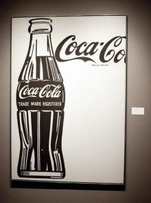 """Coca-Cola Large Coca-Cola"", a 1961-62 painting by Andy Warhol"