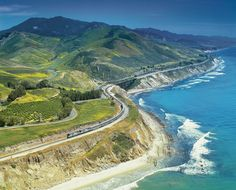 I would love to travel the Coast Starlight from Los Angeles to Seattle. From this view, it looks amazing.