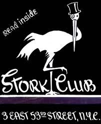 """Fond memories of the Stork Club in New York City. The """"hang out"""" for cafe society and a fun place to dine & dance."""