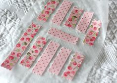 Delightful Distractions: How-To make your own fabric washi tape