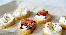 Creative Crostini, Three Ways Recipe   Yummly Breakfast Dessert, Dessert For Dinner, Guava Recipes, Guava Jelly, Aged Balsamic Vinegar, Whipped Cream Cheese, Easy Entertaining, Mini Desserts, Appetizers For Party
