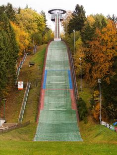 Ski Jumping Hill Without Snow Free Stock Photo - Libreshot