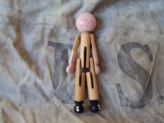 Vintage Clothes Pin Doll by Vintage3TS on Etsy, $5.00