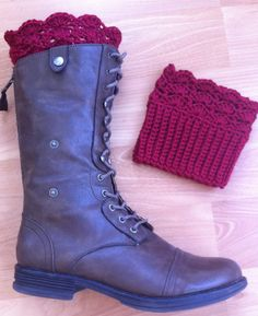 Boot Toppers  Boot Cuffs Crochet Leg Warmers in Autumn by InChains, $22.00