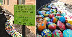 Every Student From This Elementary School Had To Paint One Rock In His Own Style, And Here's The Result | Bored Panda