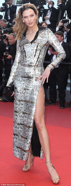 Karlie Kloss arrives at the Cannes Film Festival screening of new Spanish movie Julieta...