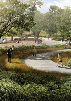 Even the playground will look natural / Photo: Nelson Byrd Woltz, The Houston Chronicle #landscapearchitecture