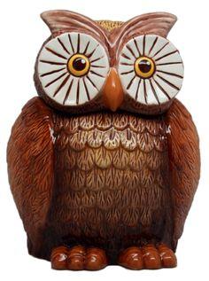 """""""Owl"""" Cookie Jar by Pacific Trading (Brown) #inkedshop #owl #cookies #cookiejar #animals #homegoods #cute"""