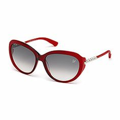 722579d25b8de6 These sunglasses are SO FIERCE!!! Swarovski Destiny Solid Red Sunglasses    Fancy Lifestyle