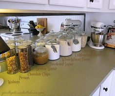 """Organized space of the week... Kitchen """"The Baking Zone""""   A Bowl Full of Lemons"""