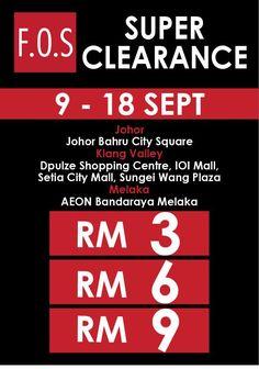 9-18 Sep 2016: F.O.S Super Clearance