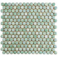 Merola Tile Hudson Penny Round Matte Black 12 in. x 5 mm Porcelain Mosaic Tile sq. / case) - - The Home Depot floors Merola Tile Hudson Penny Round Matte Black 12 in. x 5 mm Porcelain Mosaic Tile sq. / - The Home Depot Bathroom Floor Tiles, Shower Floor, Wall Tiles, Bathroom Tile Showers, Tile Floor, Marble Floor, Mosaic Wall, 2nd Floor, Floor Mats