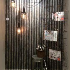 Korrugerad plåt som väggpanel Hem, Curtains, Rock, Design, Home Decor, Metal, Blinds, Decoration Home, Room Decor