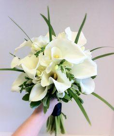Calla lilies, freesia